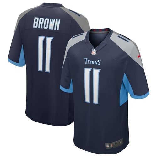 Men's Nike Tennessee Titans A.J. Brown Game Jersey (Navy)