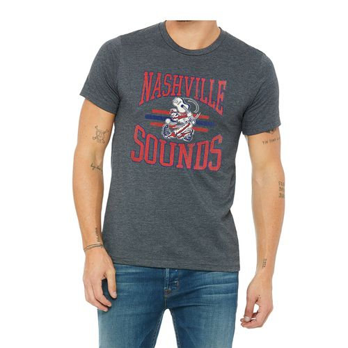 Men's Retro Brand Nashville Sounds Retro Tri-Blend T-Shirt (Dark Heather)