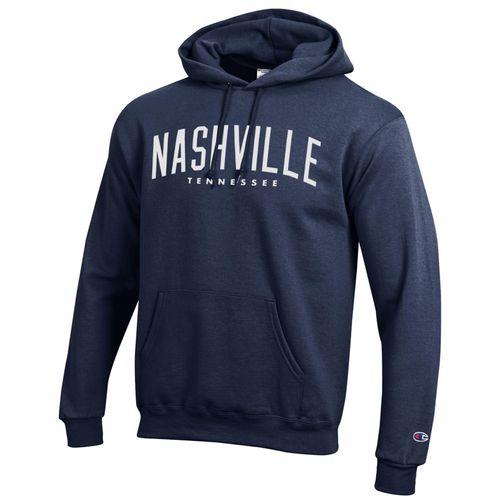 Men's Champion Nashville Tennessee Hooded Fleece (Navy)