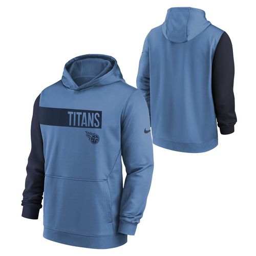 Youth Nike Tennessee Titans Club Therma Hooded Fleece (Light Blue)