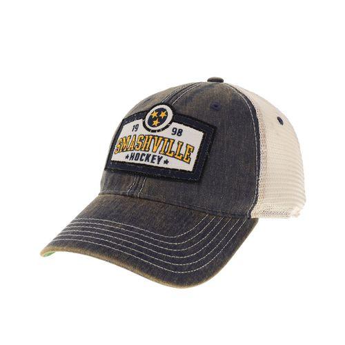 Legacy Nashville Predators Smashville Scoreboard Trucker Adjustable Hat (Navy/White)