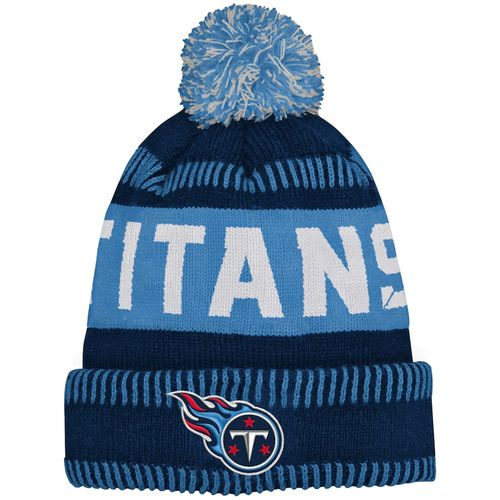 Youth Tennessee Titans Sport Tech Knit Pom Hat (Navy/Light Blue)