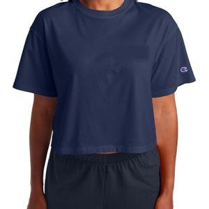 Women's Champion Boyfriend Cropped T-Shirt (Navy)