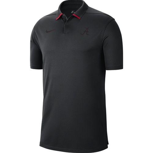 Men's Nike Alabama Crimson Tide Vapor Pinnacle Polo (Black/Crimson)