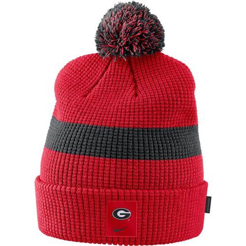 Nike Georgia Bulldogs Pom Knit Hat (Red/Black)