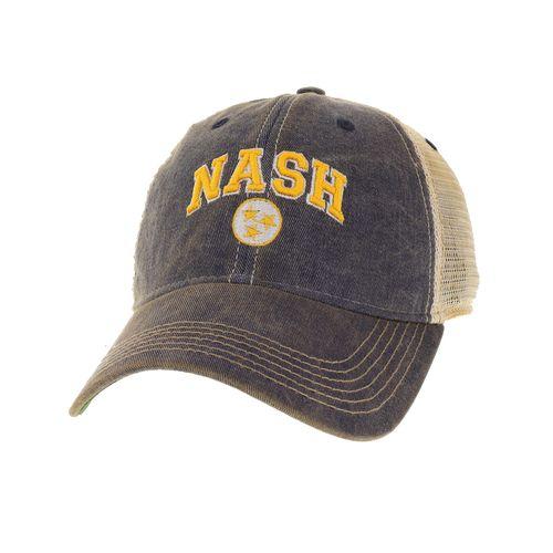 Legacy Nashville Arch Tri-Star Trucker Adjustable Hat (Navy/Gold)