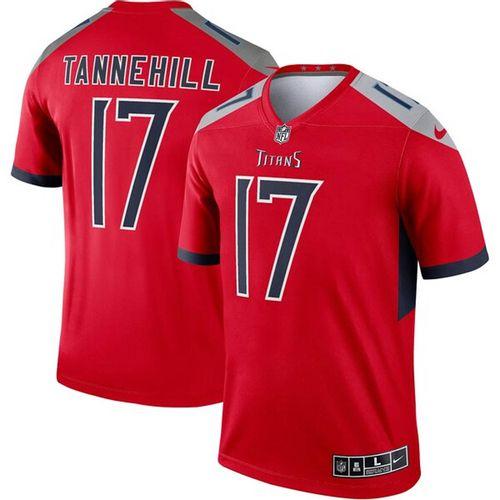 Men's Nike Tennessee Titans Ryan Tannehill Legend Jersey (Red)