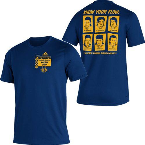 Men's adidas Nashville Predators Mullet Shop T-Shirt (Navy)
