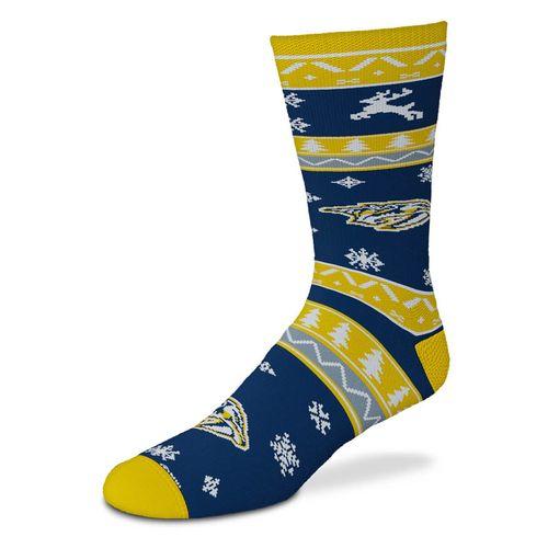 Nashville Predators Holiday Pattern Sock