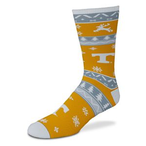 Tennessee Volunteers Holiday Pattern Sock