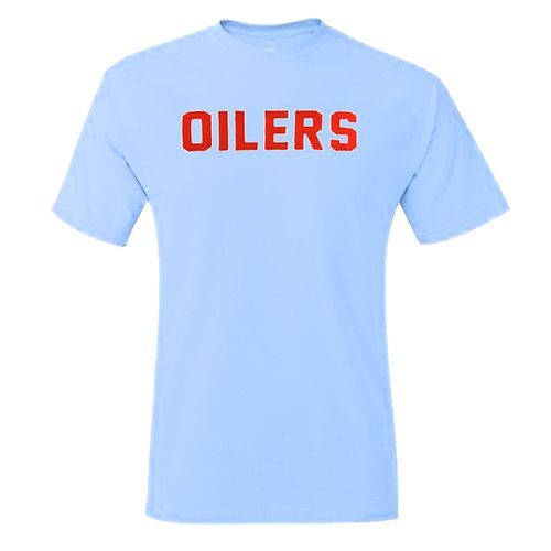 '47 Brand Men's Tennessee Titans Oilers Wordmark Fieldhouse T-Shirt (Blue)